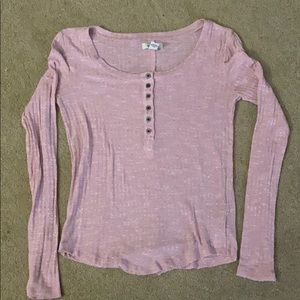 Forever 21 Long Sleeve Pink Tee